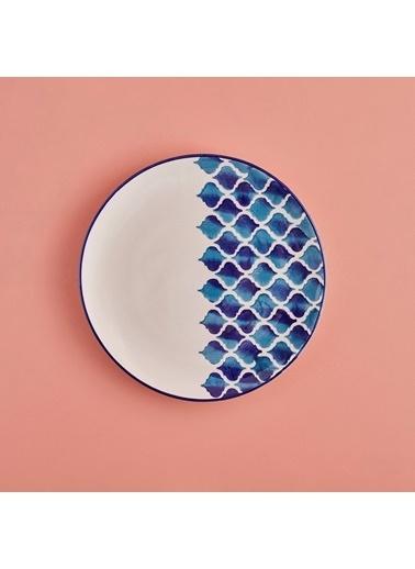 Bella Maison Blue Tile Servis Tabağı(26) Renkli